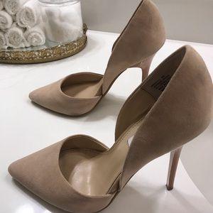 Steven Madden size 8 women nude heels